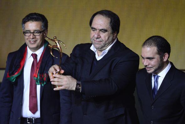 El presidente del la Federación de Fútbol de Afganist&aacu...
