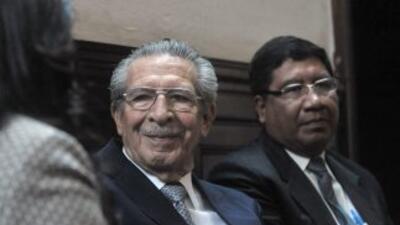 El ex dictador guatemalteco Efraín Ríos Montt.
