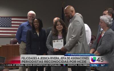 El Departamento de Educación del Condado Harris exaltó la labor de Jessi...