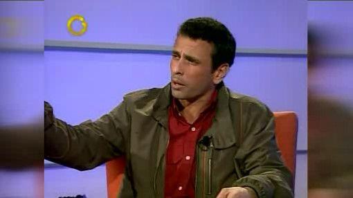 Henrique Capriles Radonski, el  ex candidato presidencial por la Mesa de...