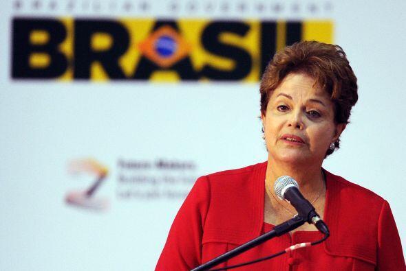 La mandataria brasileña, Dilma Rousseff, en la inauguración de una confe...