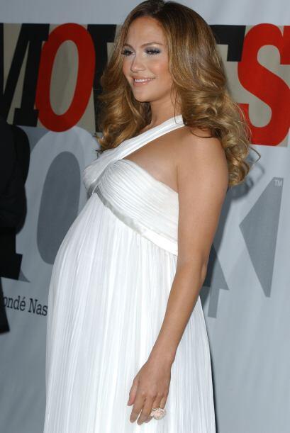 Jennifer Lopez fue una de las famosas que perdió un poco su figur...
