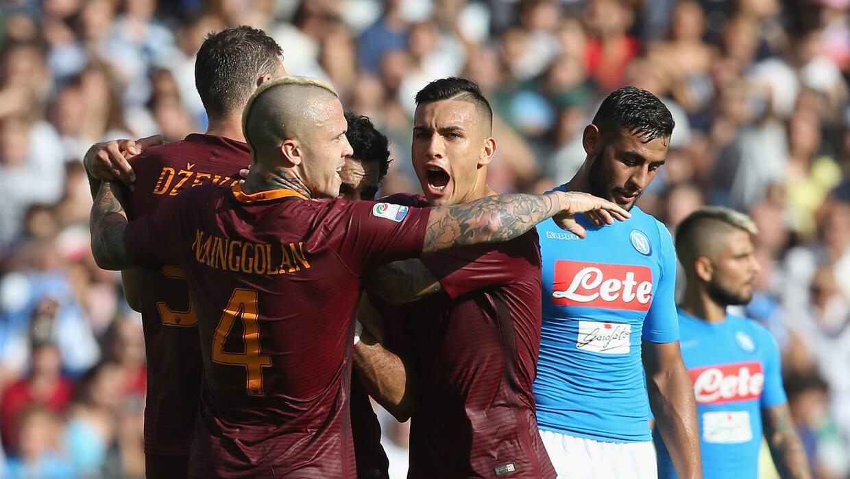 La Roma gana en San Paolo y ya es segunda