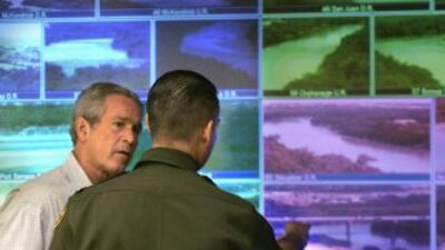 El muro virtual en la frontera con México fue uno de los principales pro...
