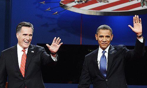 Octubre 3- El primer debate presidencial entre el presidente de Estados...