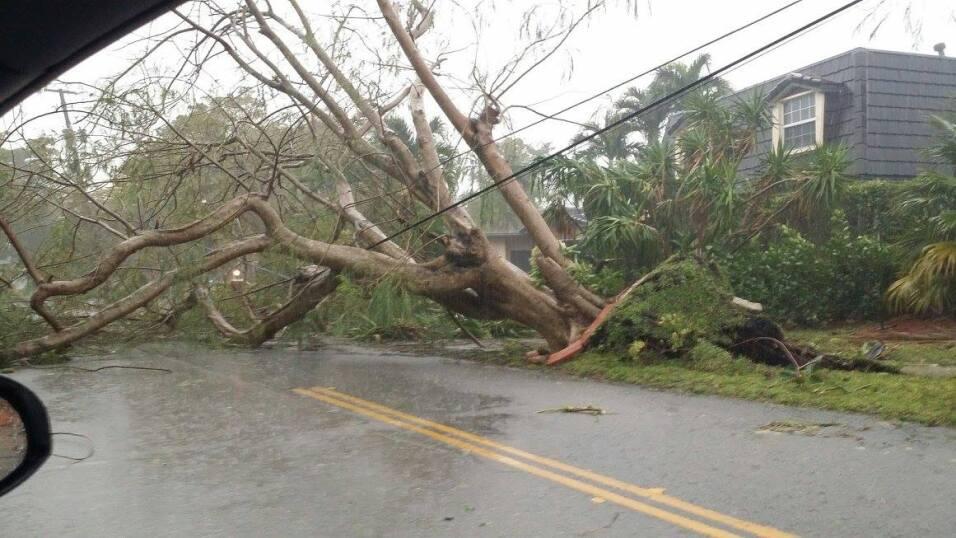 North Miami se vio afectado también por la fuerte tormenta de este martes.