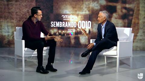 """Jorge Ramos acepta que sintió miedo mientras filmaba el documental """"Semb..."""