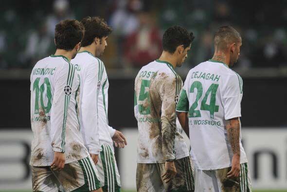El Wolfsburgo vio como se desvanecía el sueño de avanzar....