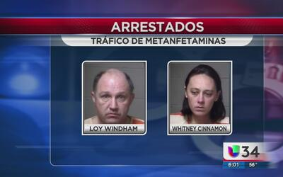 Cae pareja por tráfico de metanfetaminas