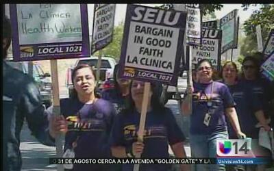 Trabajadores de la salud se manifiestan