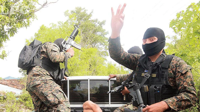 Miembros del Ejército salvadoreño.