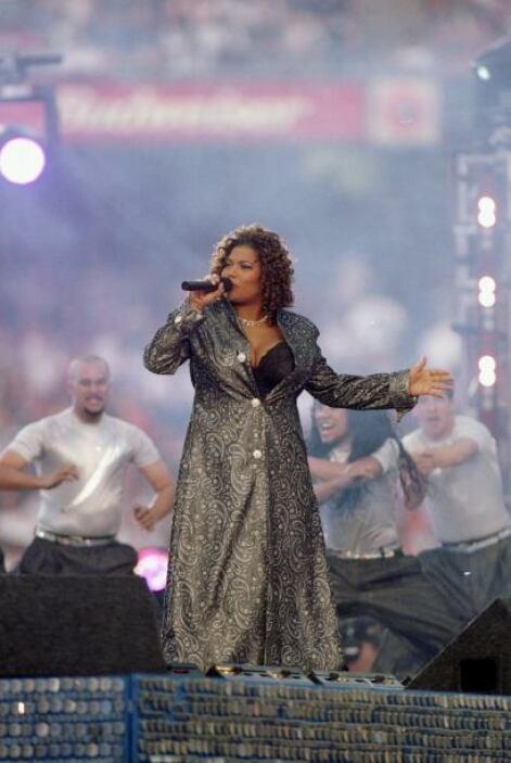 Queen Latifah fue la encargada del show de medio tiempo.