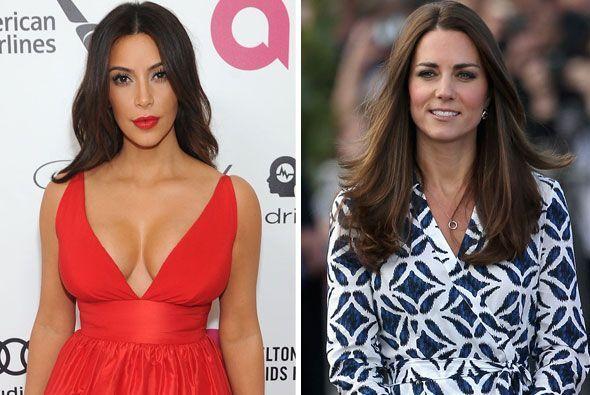 Hace un año Kim Kardashian y Kate Middleton recibieron a la cigüeña y de...