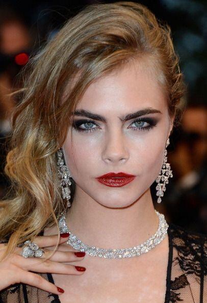 La joven modelo y actriz británica de 21 años,Cara Delevin...
