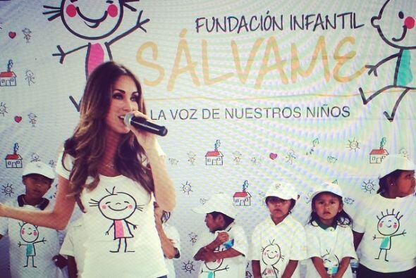 En 2014 la actriz inauguró su fundación 'Sálvame'.