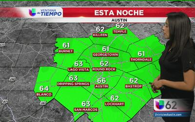 Fuertes lluvias para este inicio de semana en Austin