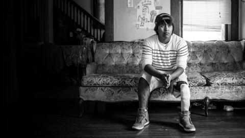 El guatemalteco Osiel López Pérez perdió la pierna en un accidente labor...