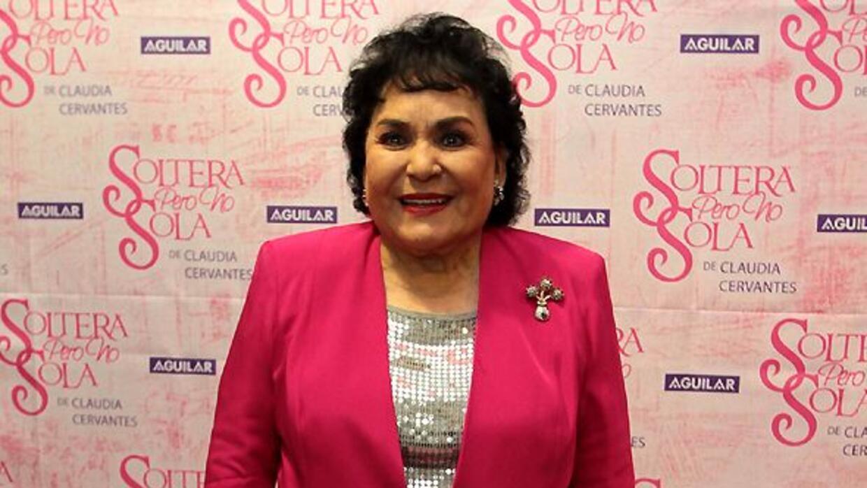 Junto a Sergio Mayer, la actriz le dio su apoyo al comediante.