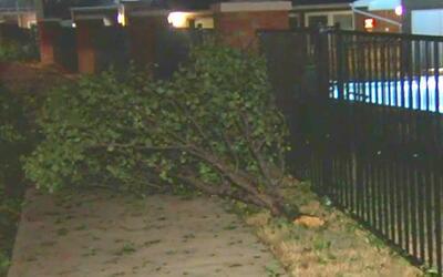 Tornado en Justin provocó daños leves en un complejo residencial