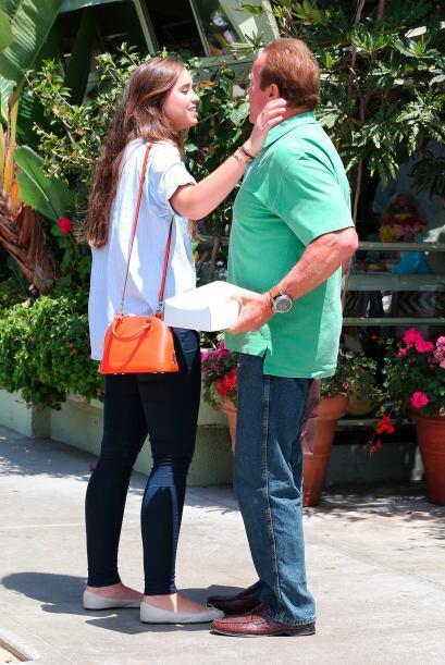 El actor y también ex gobernador de California Arnold Schwarzenegger a s...