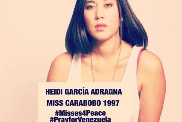 Heidi García Adragna, Miss Carabobo 1997, hizo un llamado a la no...