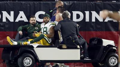 Randall Cobb sufrió una contusión pulmonar en la derrota ante los Arizon...