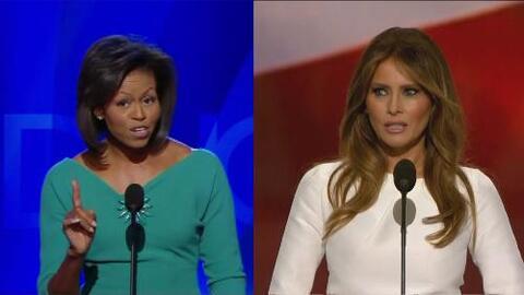 Estas son las 60 palabras que Melania Trump dijo igual que Michelle Obama