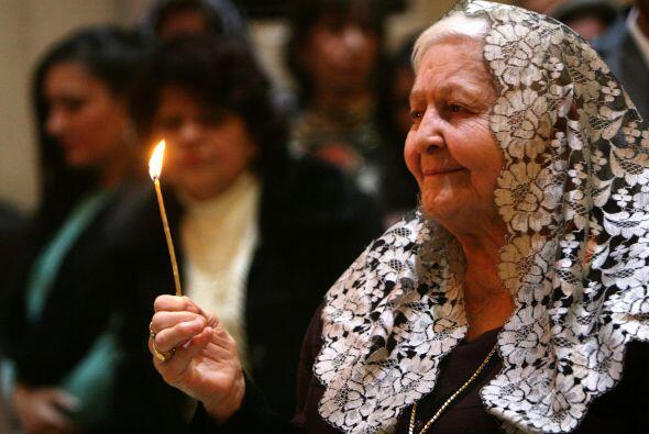 Los iraquíes también se reunieron en sus templos a celebrar Navidad.