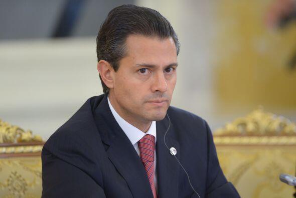 El presidente de México, Enrique Peña Nieto  se colocó en la posición nú...