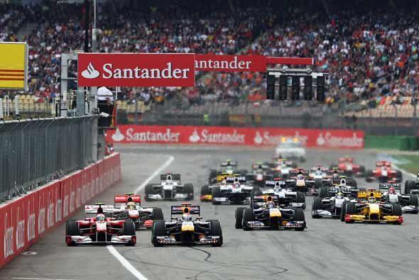 Vetter intentó tomar ventaja, pero tanto Alonso como Felipe Massa...