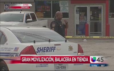 Conmoción por balacera en tienda en Crosby, TX