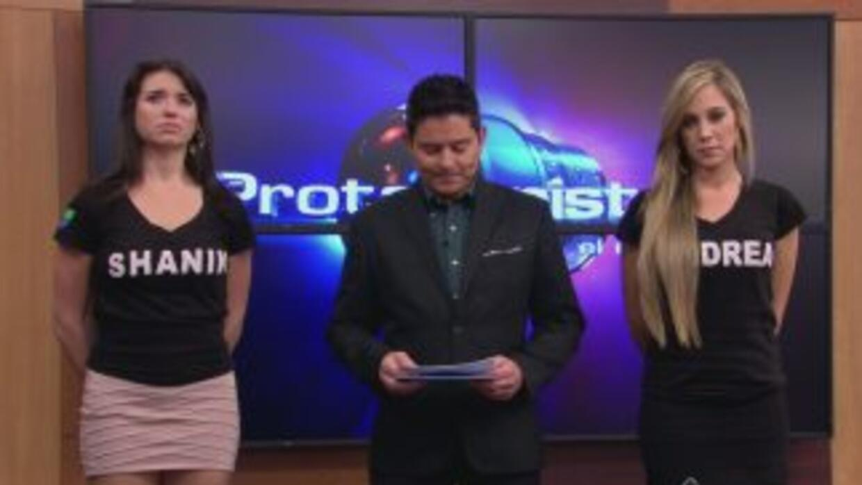 Andrea y Shanik amenazadas en Protagonistas