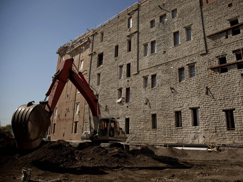 Los Schmidt Lofts, en St. Paul, cuando se estaban construyendo. Hoy un 8...