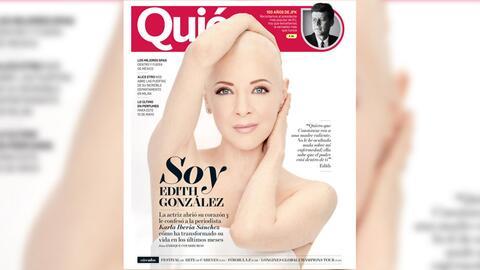 Edith González en portada de la revista 'Quién'.