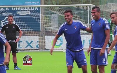 Diego Reyes ilusionando con su llegada a la Real Sociedad