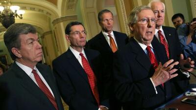La acción ejecutiva pone a los republicanos en un dilema: por un lado, q...