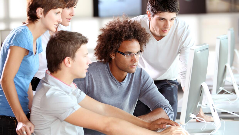 Los exámenes basados en los Common Core se toman por computadora.