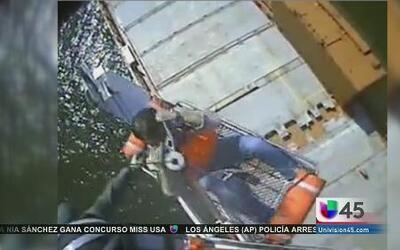 Rescate en altamar quedó captado en video