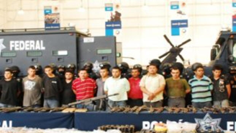 Las autoridades mexicanas anunciaron la captura de 36 integrantes de la...