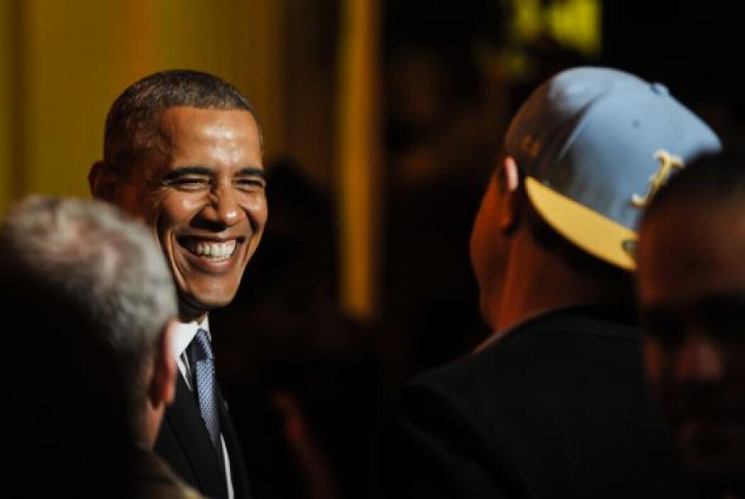 Pero el que recibió más aplausos fue el presidente.