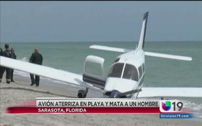 Una avioneta aterrizó en una playa matando a un hombre