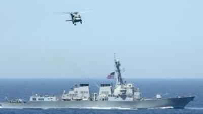 El gobierno de Corea del Sur anunció el inicio de ejercicios navales en...