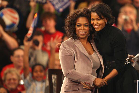 Con Michelle Obama en la inauguración de su marido, en diciembre de 2007...