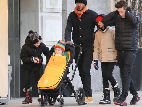 ¡Los Beckham tomaron las calles de Nueva York!