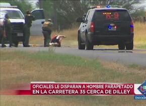Disparan contra sospechoso en la I 35