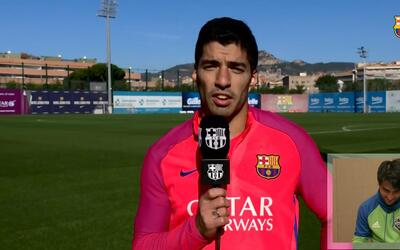 Luis Suárez le envía un mensaje a su amigo Nicolás Lodeiro para la Final...