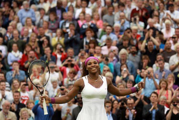 Serena disfrutó al máximo este momento…