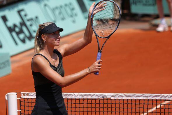Sharapova es la primera en lograr este resultado este año en París.