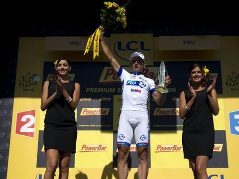 Pierrick Fedrigo, del equipo La Francaise, firmó la cuarta victor...