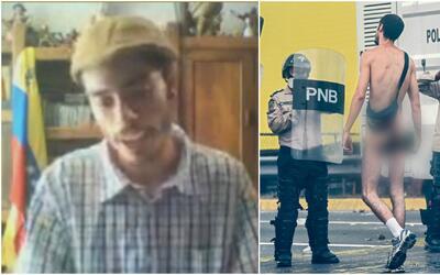 Joven que se desnudó como protesta por crisis en Venezuela: Hay que luch...